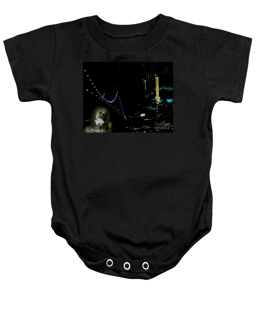 City Baby Onesie featuring the photograph City Of Dreams 2 by Madeline Ellis