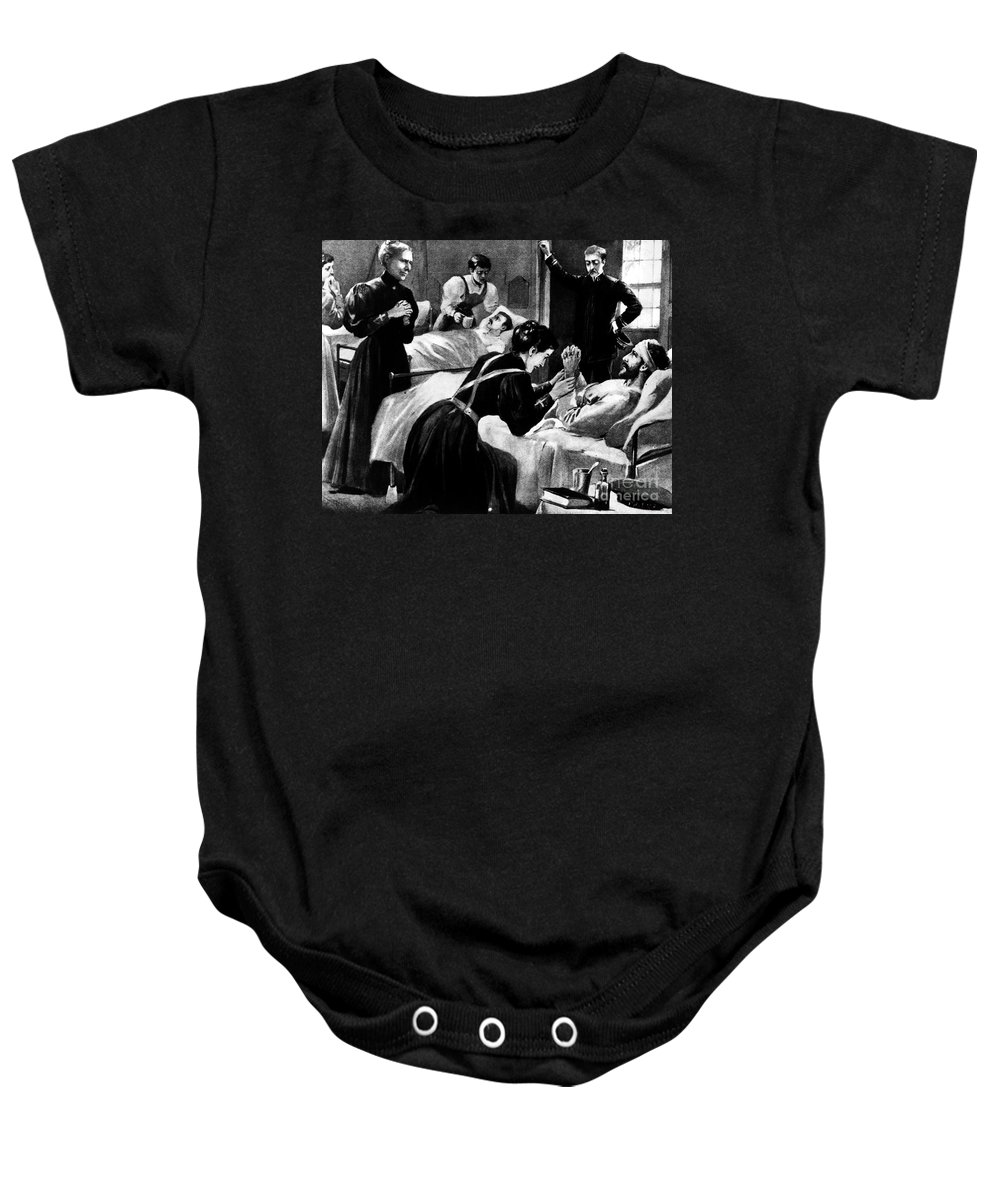 1898 Baby Onesie featuring the photograph Clara Barton (1821-1912) by Granger