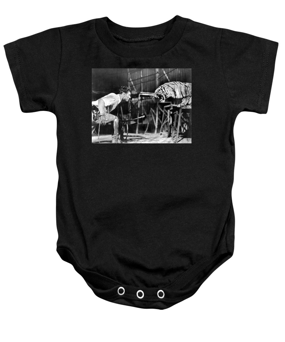 1930 Baby Onesie featuring the photograph Clyde Beatty (1903-1965) by Granger