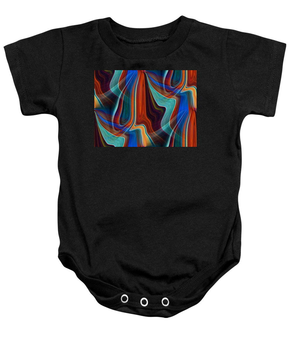 Colors Baby Onesie featuring the digital art Color Me Abstract by Tim Allen