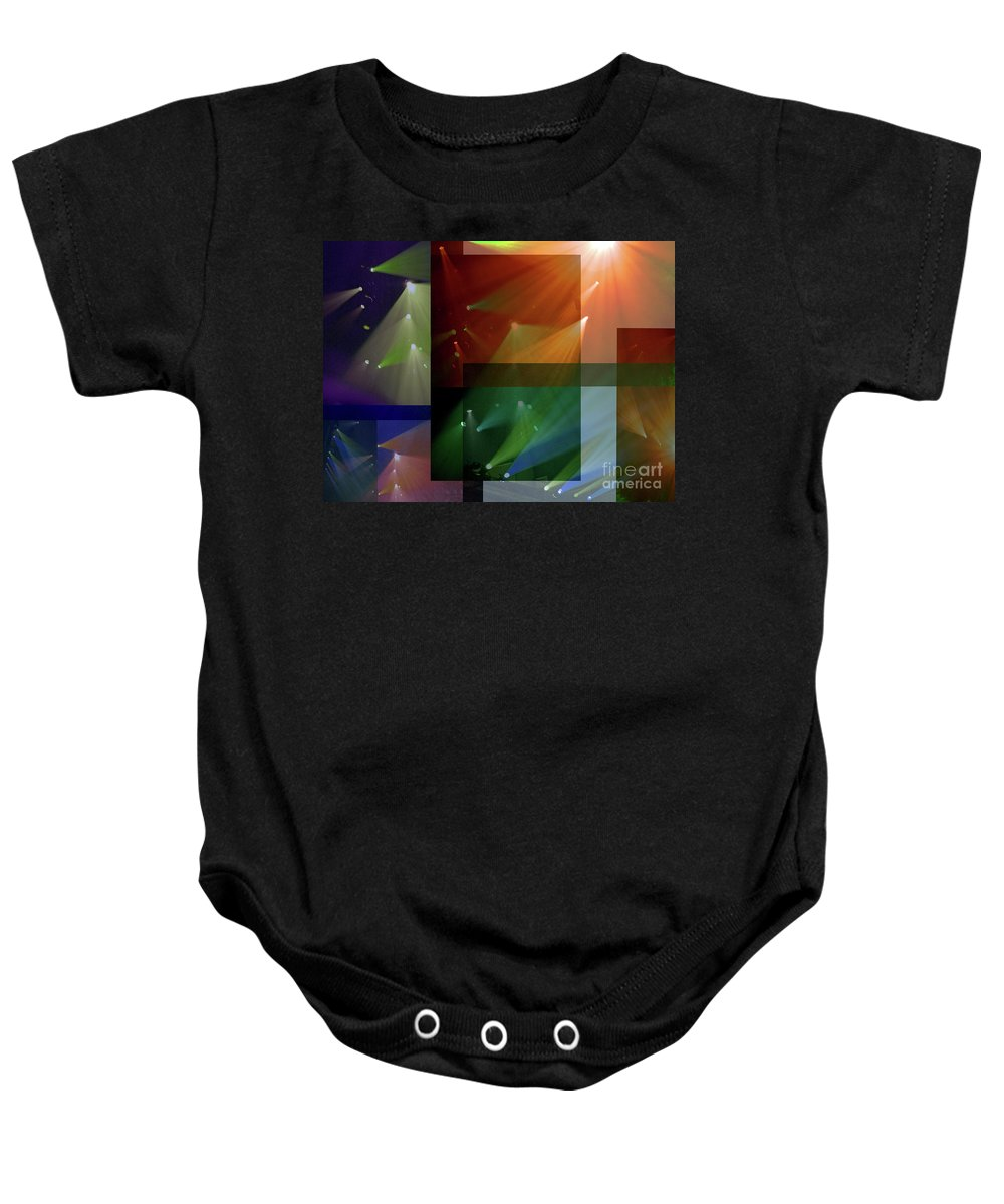 Coloured Lights Ii Baby Onesie featuring the photograph Coloured Lights II by Robert Meanor