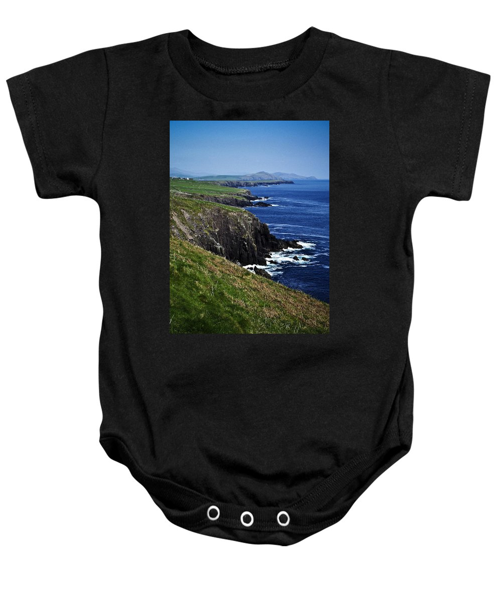 Irish Baby Onesie featuring the photograph Dingle Coastline Near Fahan Ireland by Teresa Mucha