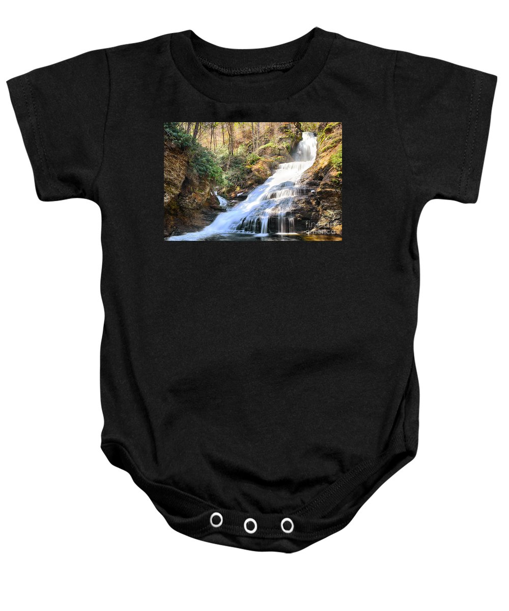 Water Baby Onesie featuring the photograph Dingmans Falls by Paul Fell