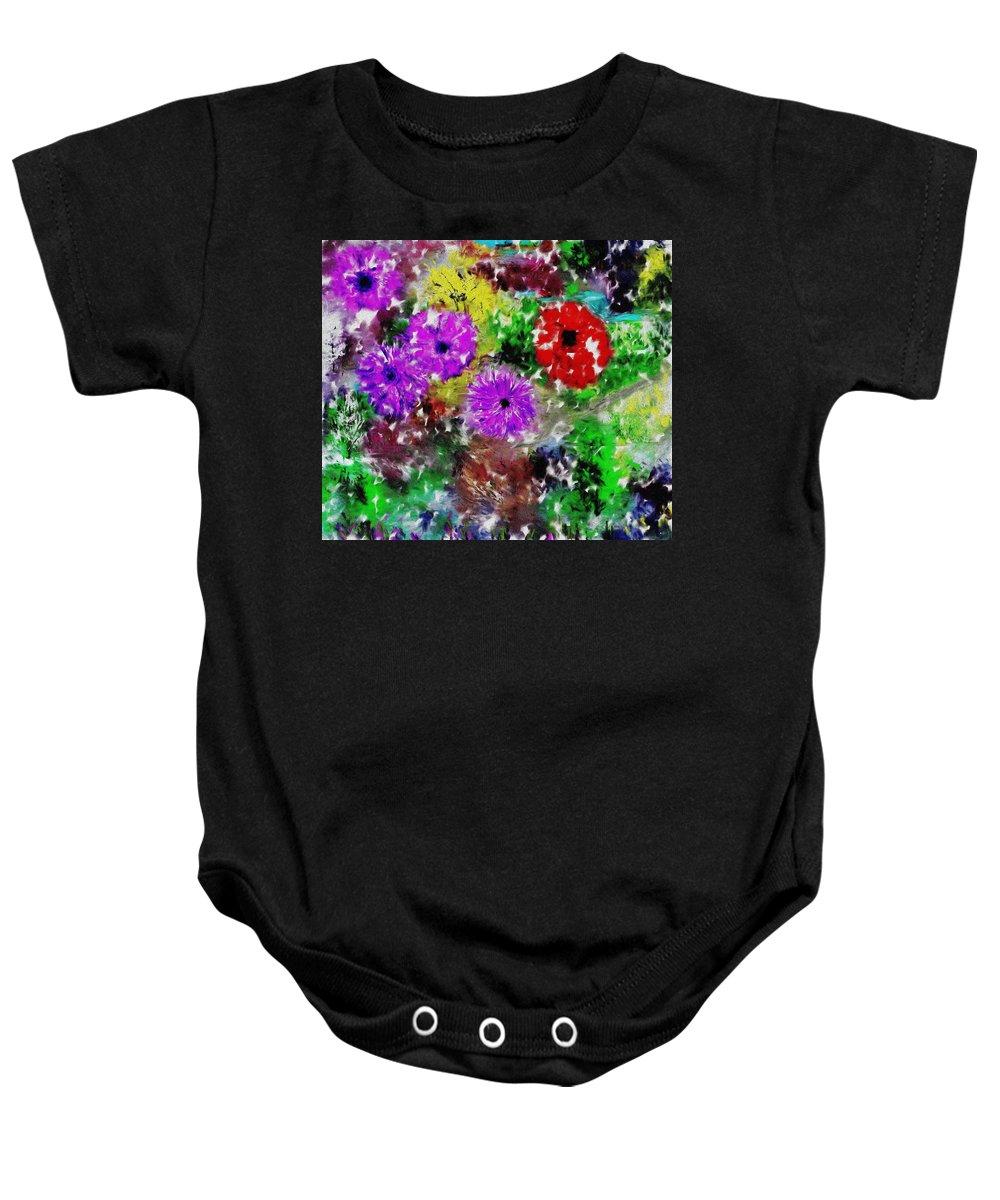 Landscape Baby Onesie featuring the digital art Dream Garden II by David Lane