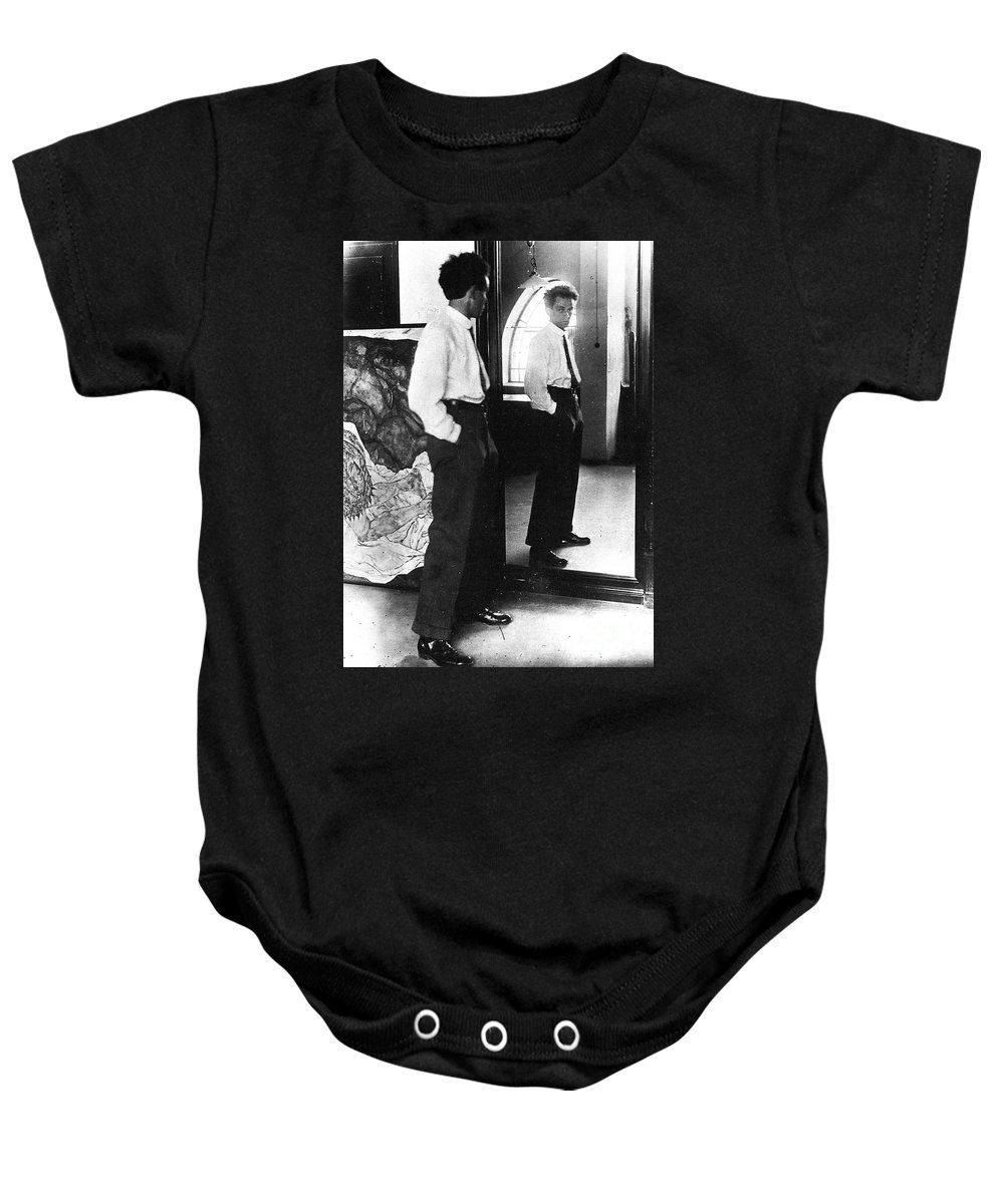 1915 Baby Onesie featuring the photograph Egon Schiele (1890-1918) by Granger