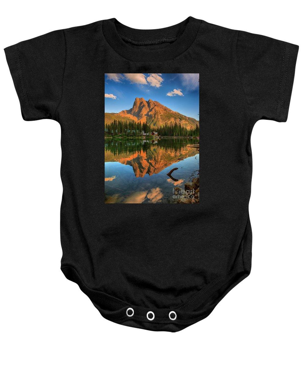 Emerald Lake Baby Onesie featuring the photograph Emerald Lake - Yoho National Park by Yefim Bam
