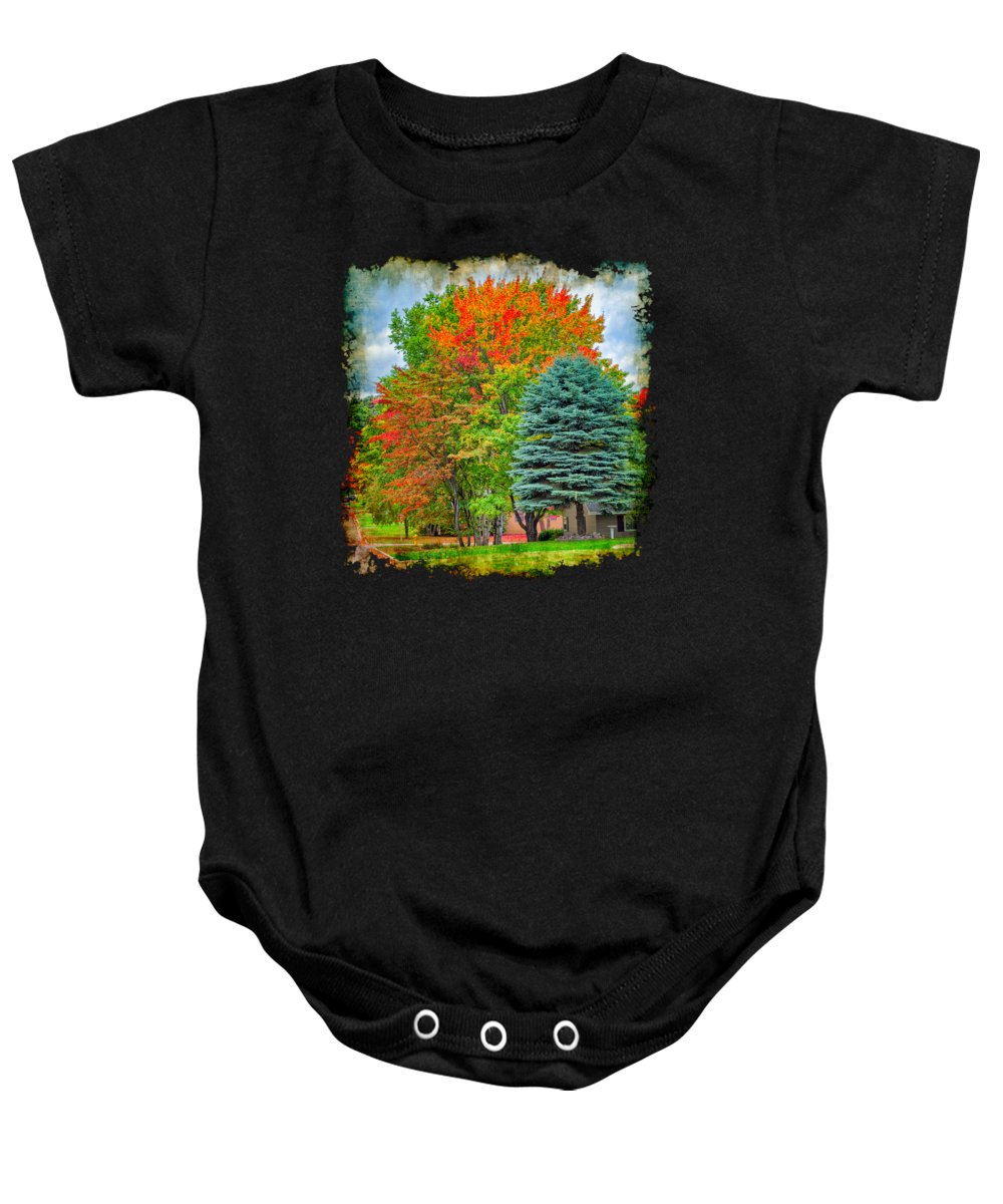 Community Baby Onesie featuring the photograph Fall Colors by John M Bailey