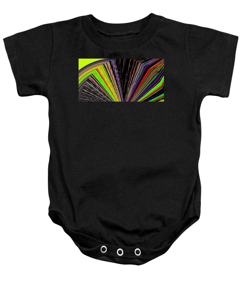 Fandango Baby Onesie featuring the digital art Fandango by Will Borden