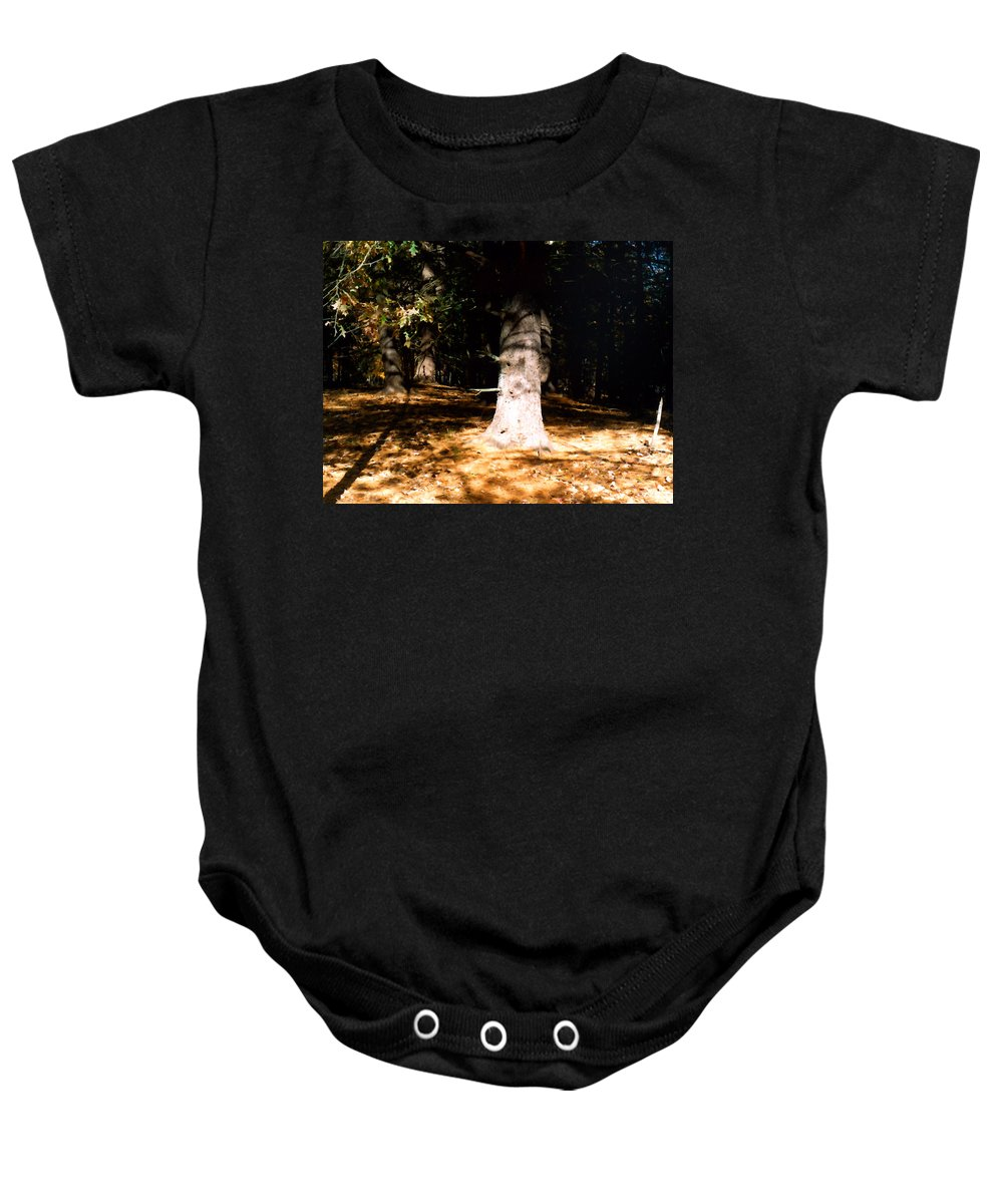 Forest Baby Onesie featuring the painting Forest Entrance by Paul Sachtleben