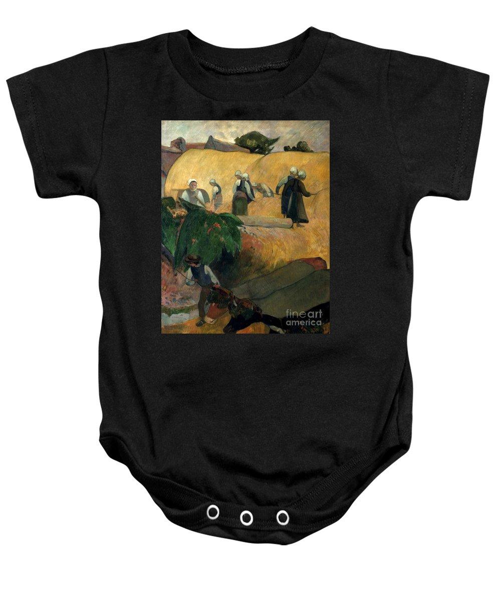 1889 Baby Onesie featuring the photograph Gauguin: Breton Women by Granger
