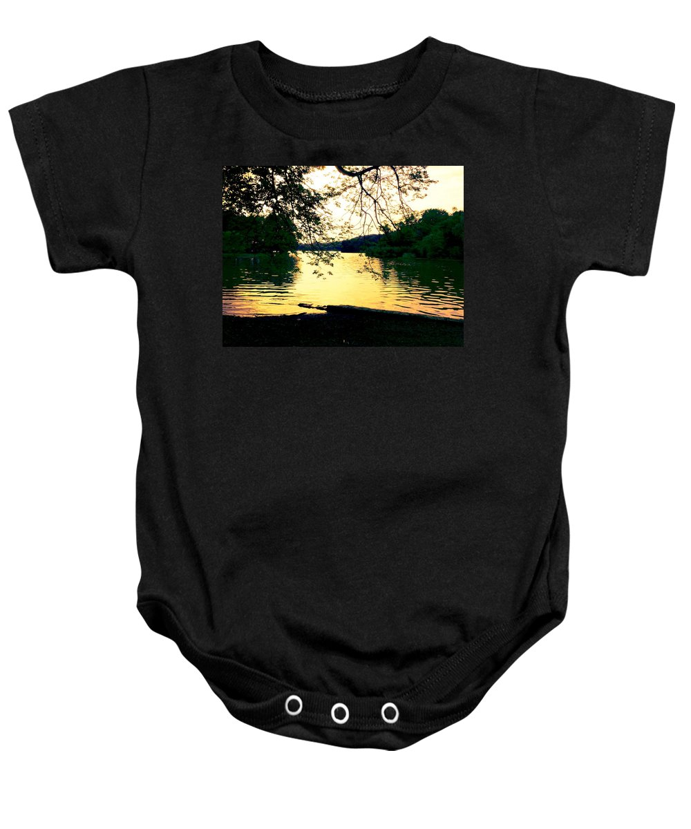 Landscape Baby Onesie featuring the photograph Golden Days by Kendall Eutemey