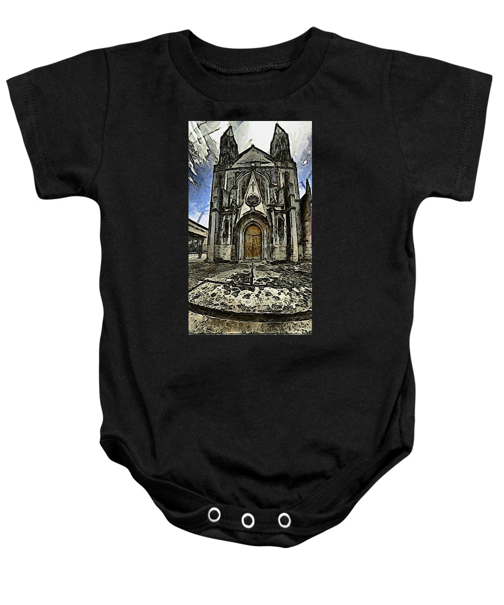 Gotic Baby Onesie featuring the photograph Gotic Church by Galeria Trompiz