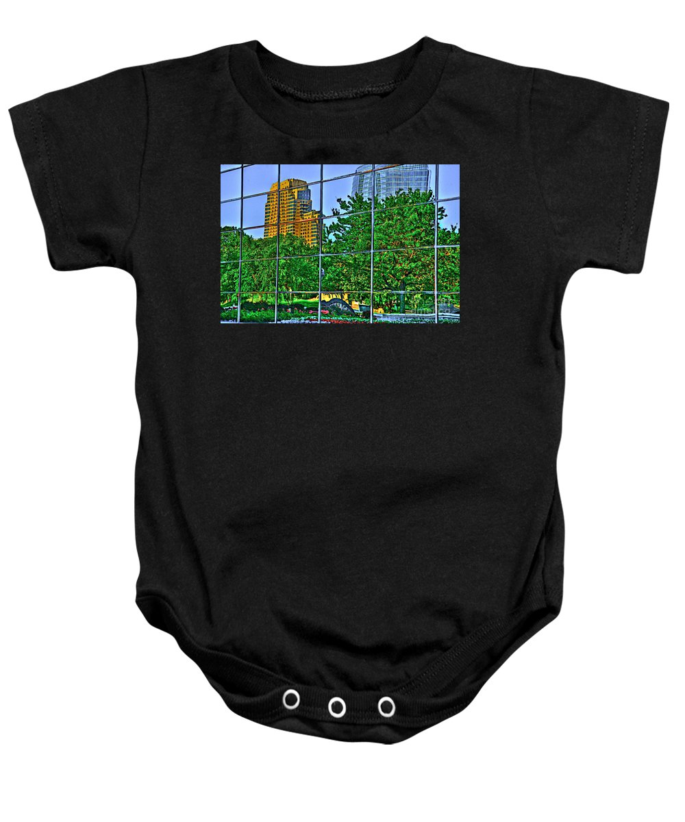 Grand Rapids Michigan Baby Onesie featuring the photograph Grand Rapids Mi On Glass-17 by Robert Pearson