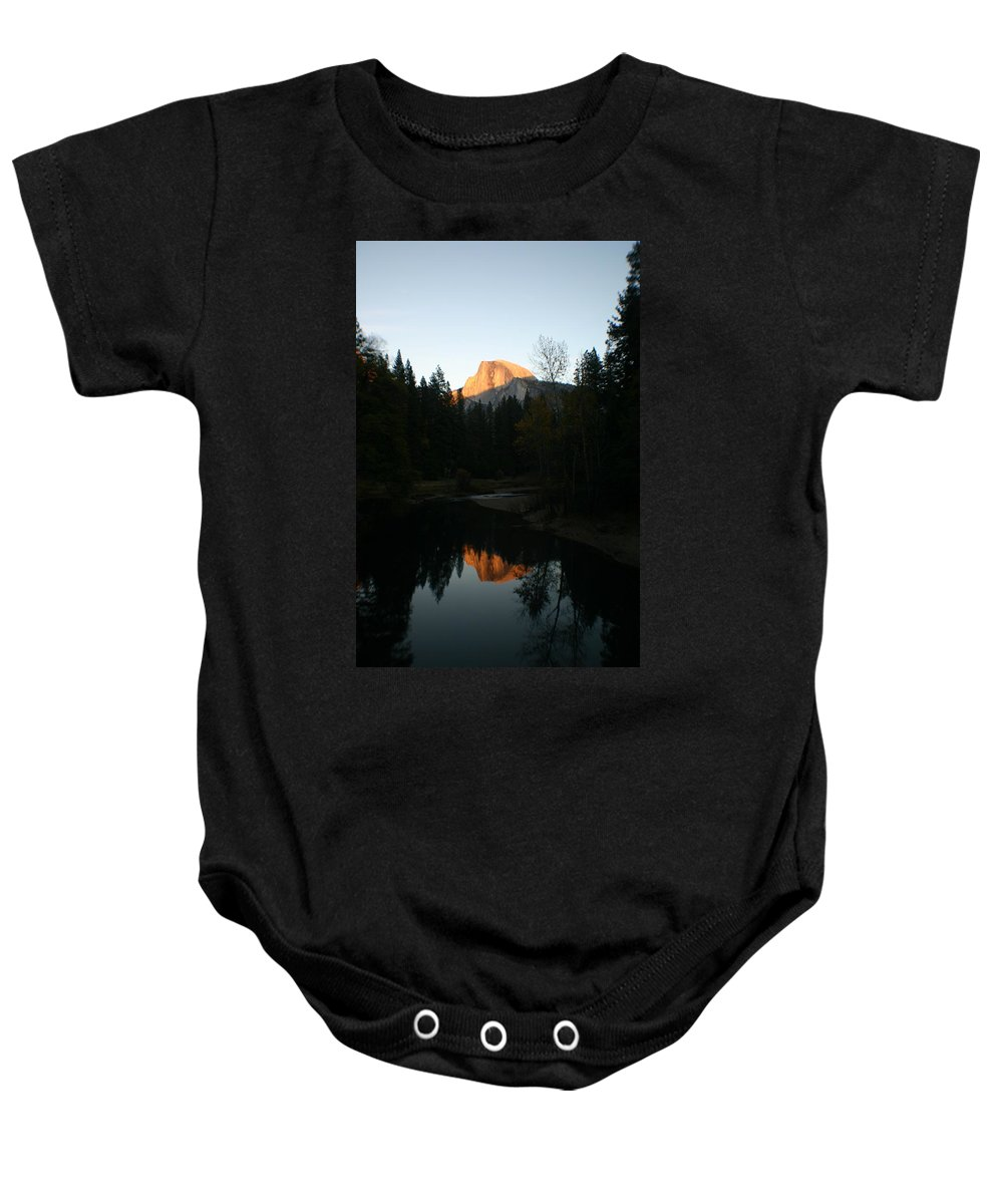 Half Dome Baby Onesie featuring the photograph Half Dome Sunset by Travis Day