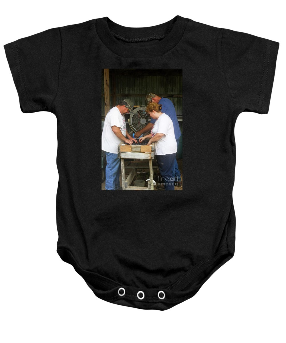 Baby Onesie featuring the photograph Henderson Blueberry Farm by Kim Henderson