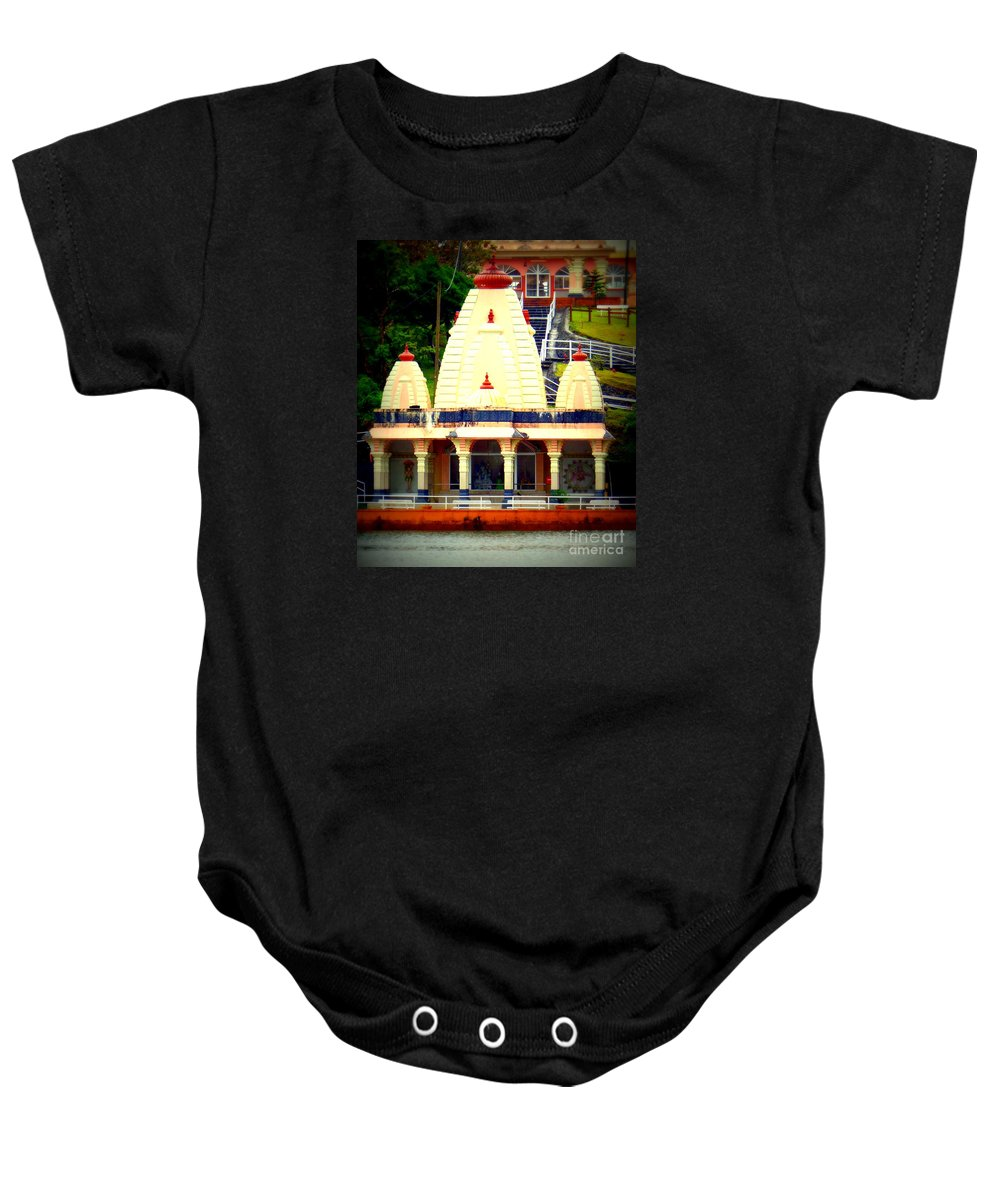Hindu Temple Baby Onesie featuring the photograph Hindu Temple by John Potts