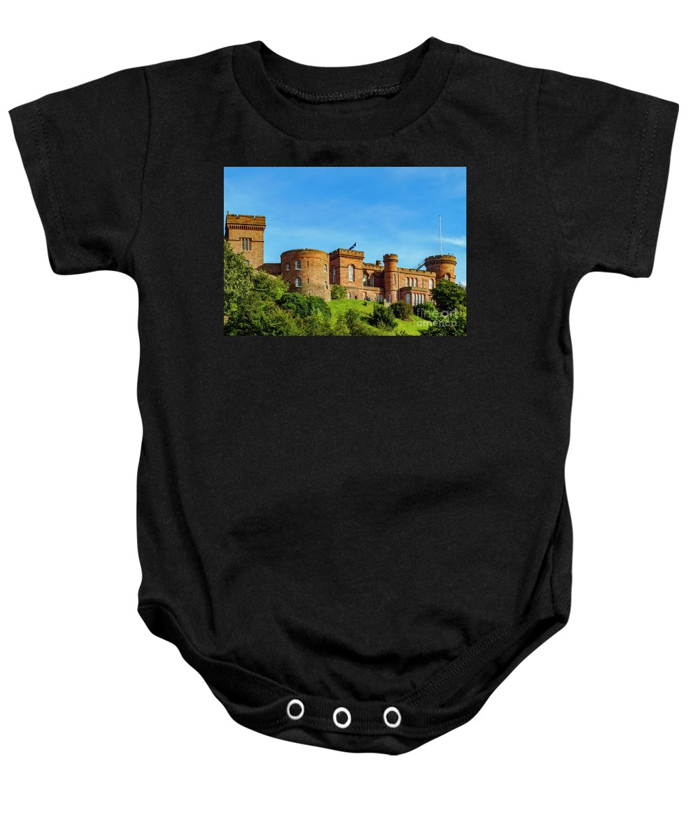 Inverness Baby Onesie featuring the photograph Inverness Castle, Scotland by Karol Kozlowski