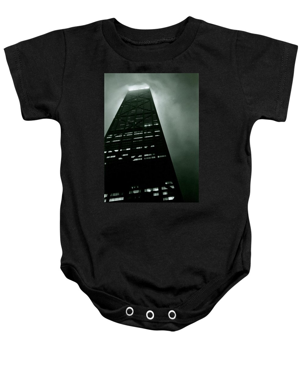 Geometric Baby Onesie featuring the photograph John Hancock Building - Chicago Illinois by Michelle Calkins