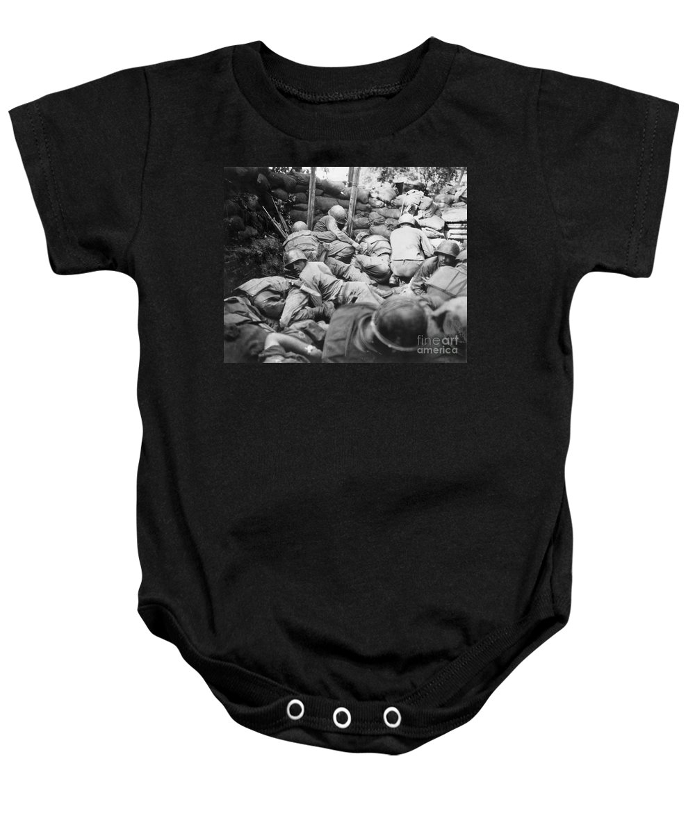 1950s Baby Onesie featuring the photograph Korean War, 1950-1953 by Granger