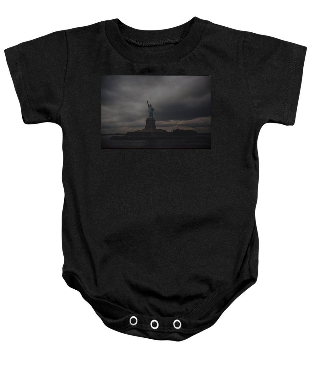 Statue Of Liberty Baby Onesie featuring the photograph Lady Liberty by Rob Hans