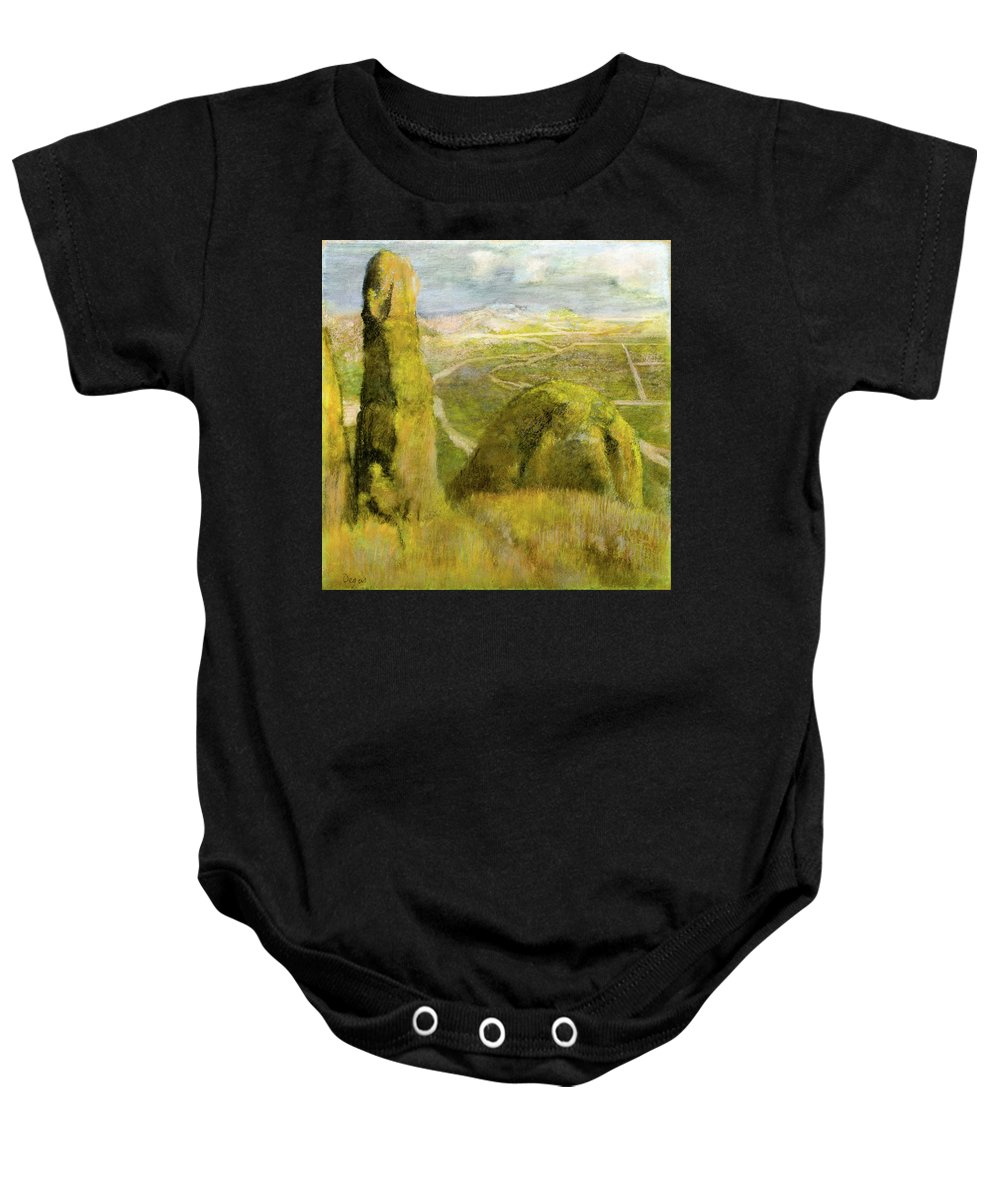 Landscape Baby Onesie featuring the painting Landscape by Edgar Degas