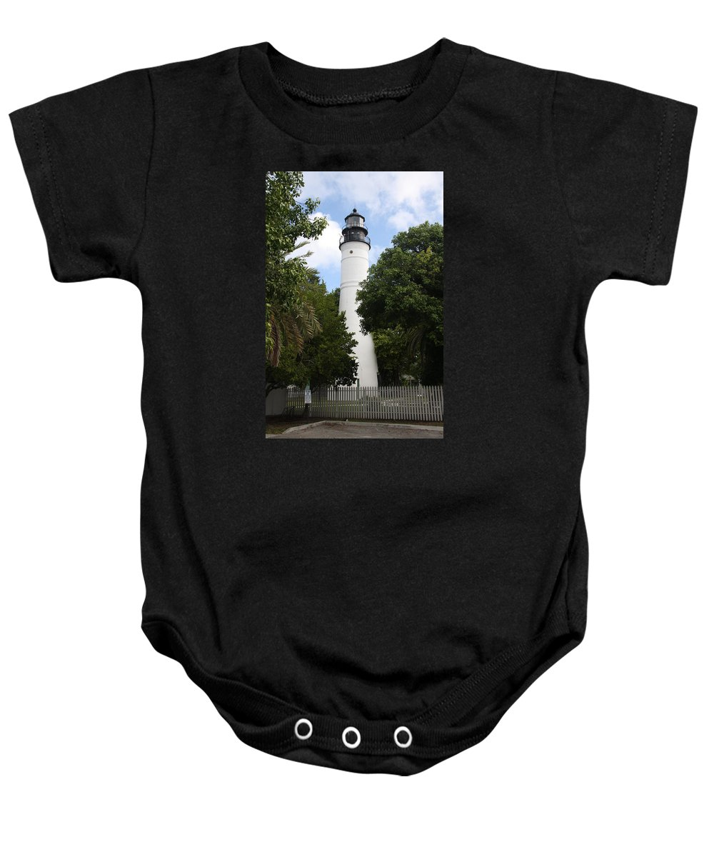 Ligthouse Baby Onesie featuring the photograph Lighthouse - Key West by Christiane Schulze Art And Photography