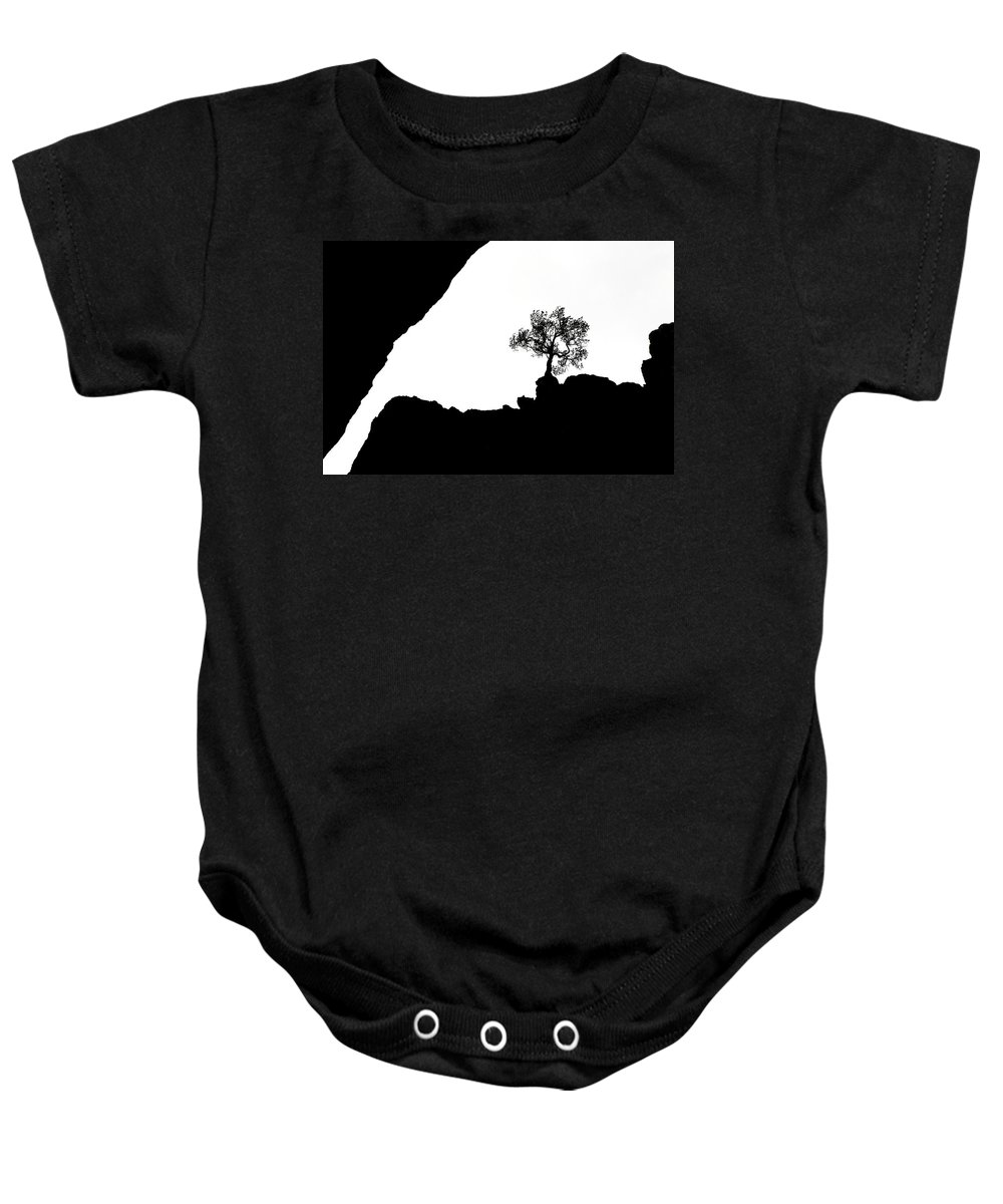 Tree Baby Onesie featuring the photograph Looking Up by Marilyn Hunt