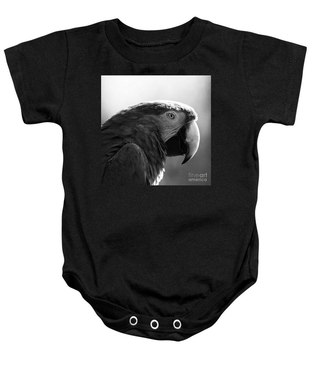 Macaw Baby Onesie featuring the photograph Macaw by Angel Ciesniarska
