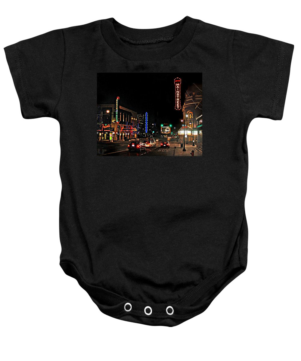 Landscape Baby Onesie featuring the photograph Main Street by Steve Karol