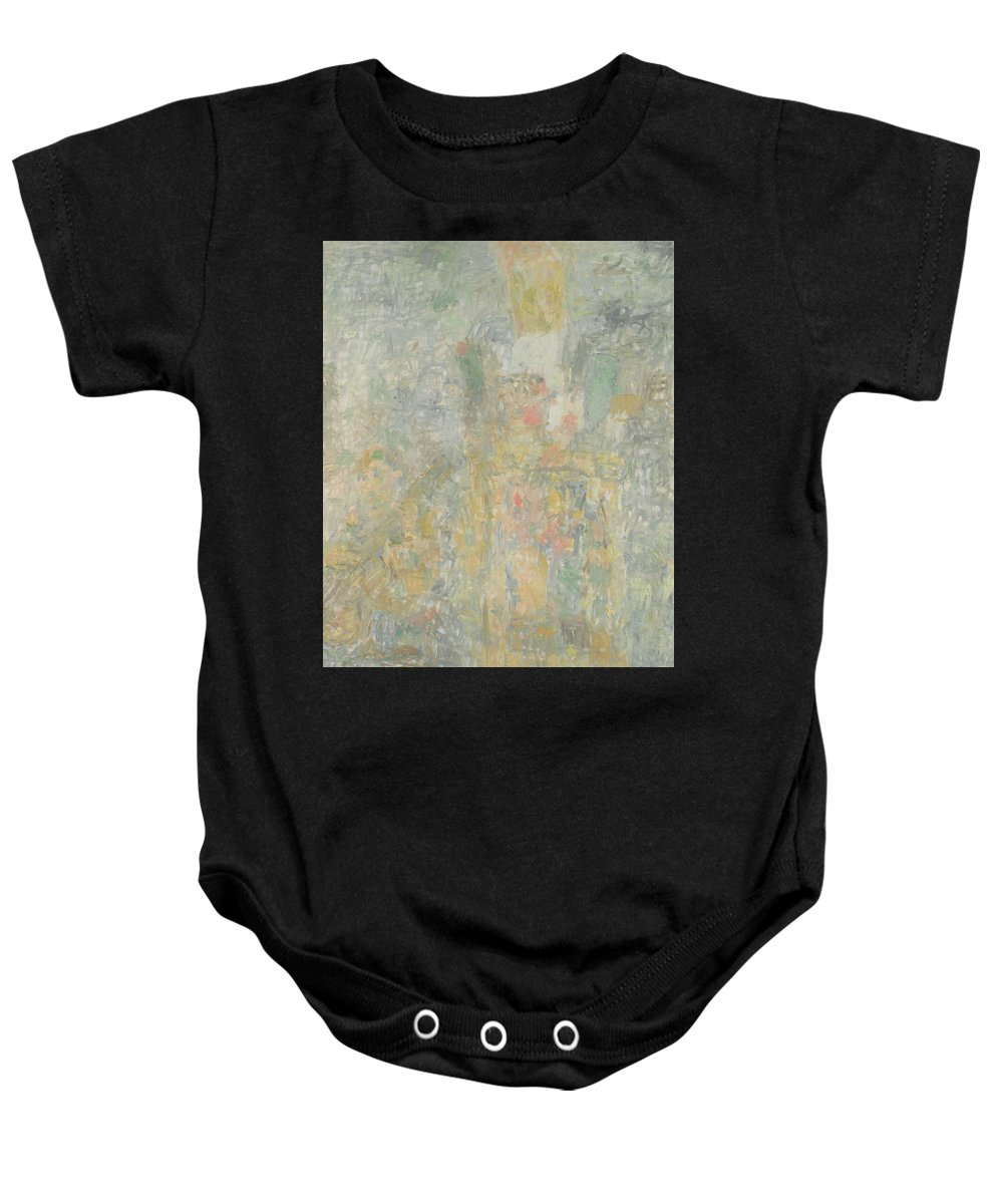 Bouquet Baby Onesie featuring the painting Man by Robert Nizamov