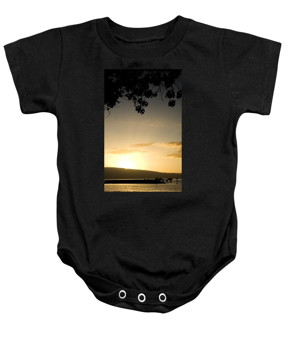 Maui Gold Baby Onesie featuring the photograph Maui Gold by Chris Brannen