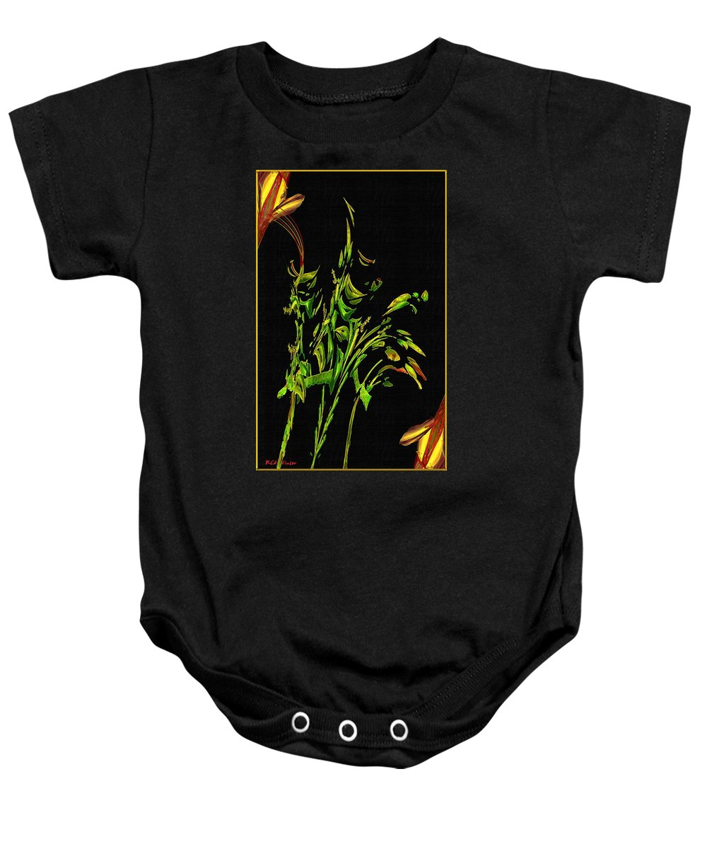 Asian Baby Onesie featuring the painting Motif Japonica No. 5 by RC DeWinter