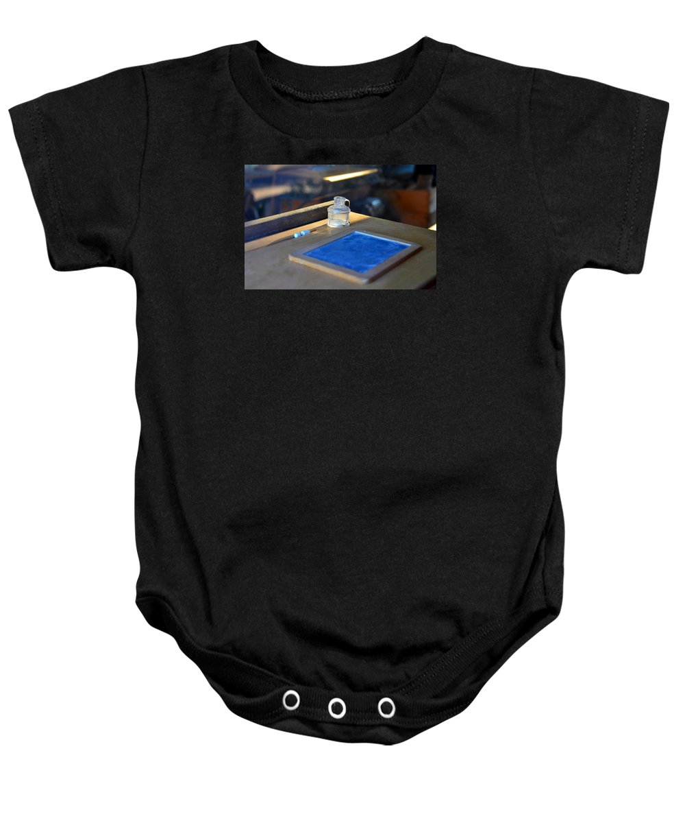 Fruita Utah School House Baby Onesie featuring the photograph Old School by David Lee Thompson