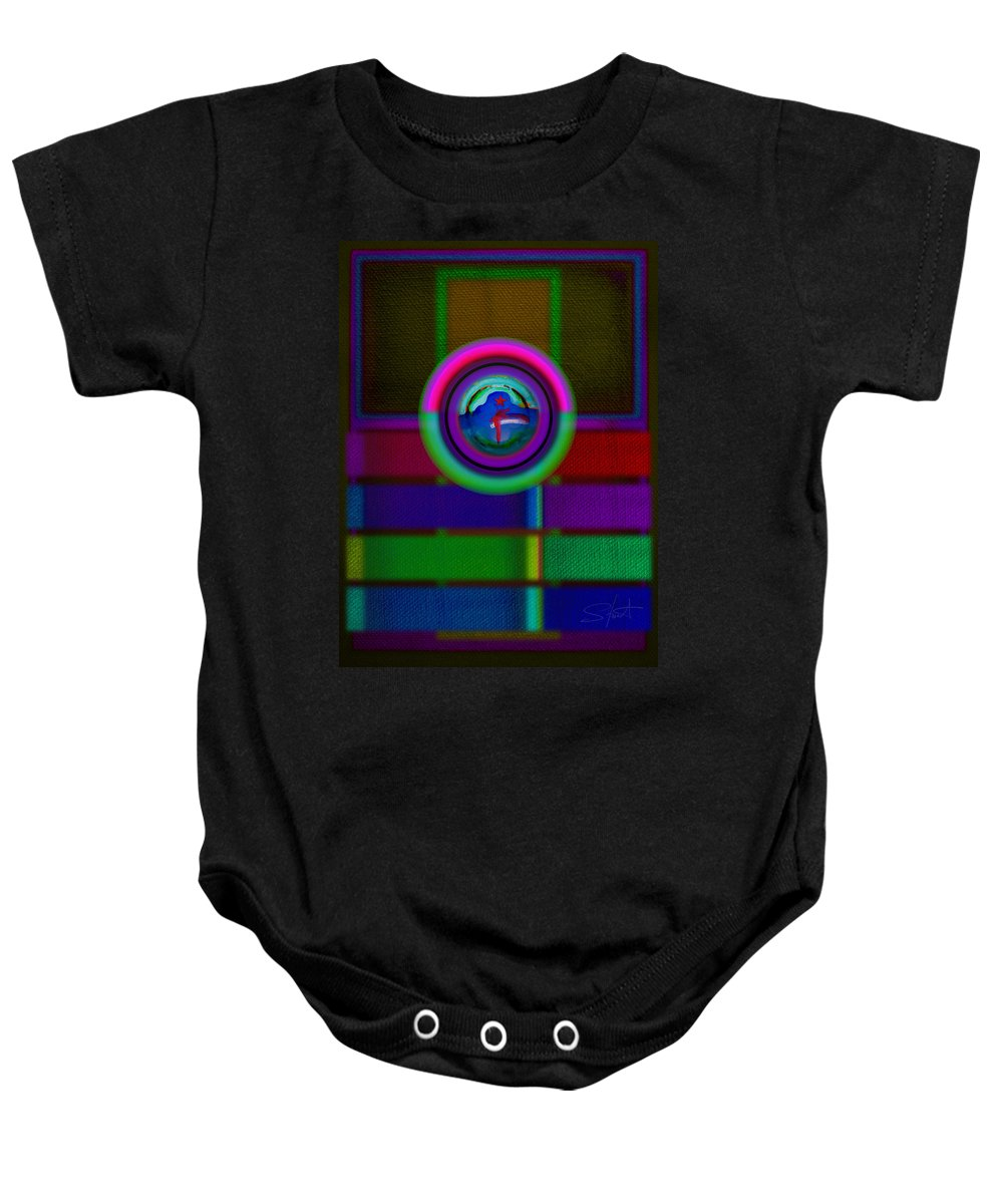 Portal Baby Onesie featuring the painting One by Charles Stuart
