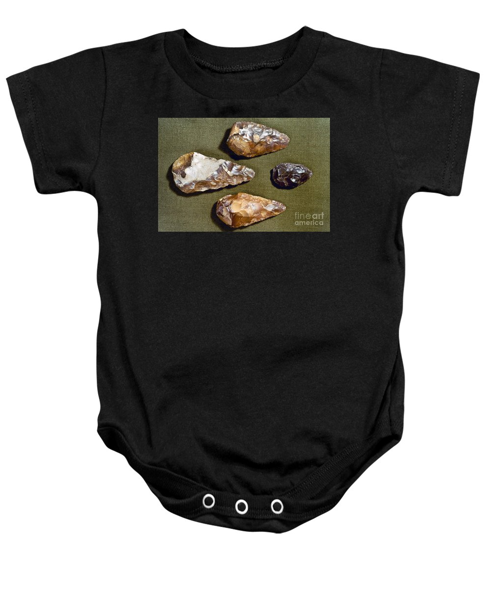 200000 Baby Onesie featuring the photograph Paleolithic Tools by Granger