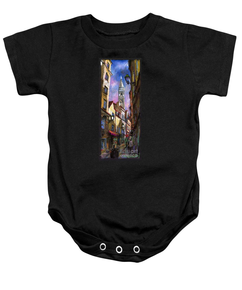 Pastel Baby Onesie featuring the painting Paris Montmartre by Yuriy Shevchuk