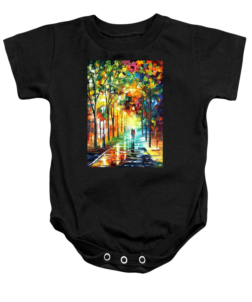 Landscape Baby Onesie featuring the painting Park by Leonid Afremov