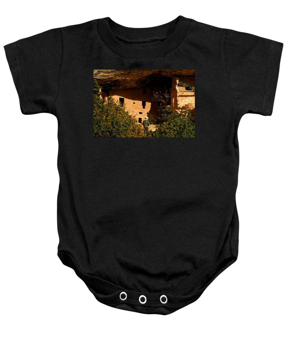 Mesa Verde National Park Colorado Baby Onesie featuring the painting Park Ranger by David Lee Thompson