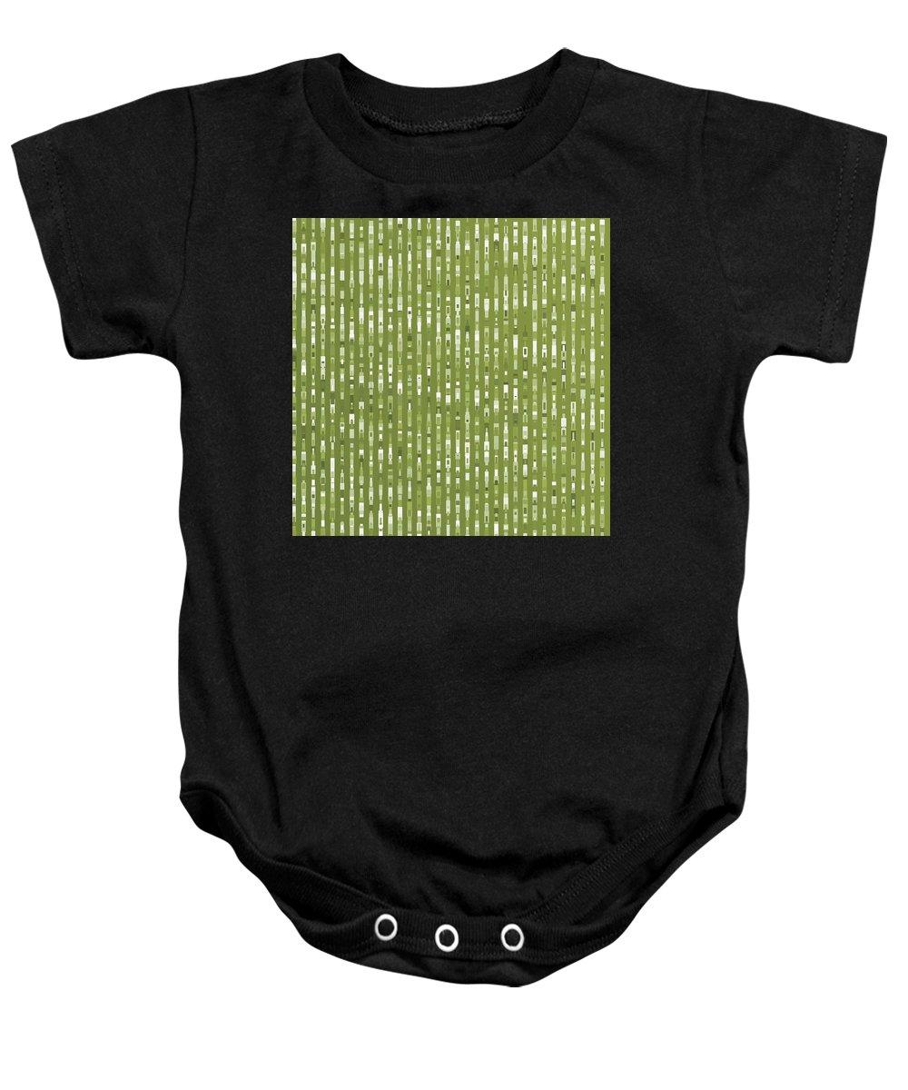 Pattern 76 Baby Onesie featuring the digital art Pattern 76 by Marko Sabotin
