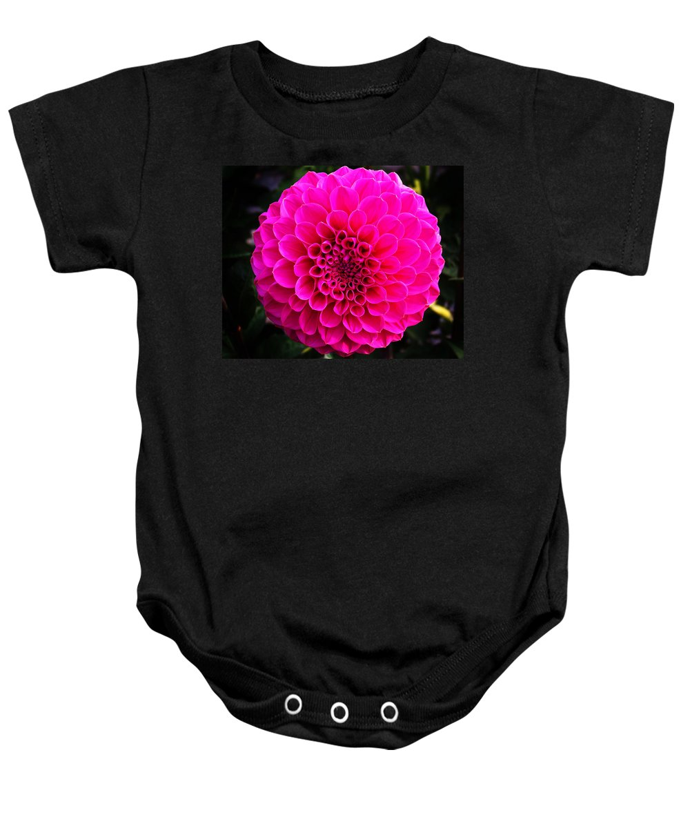 Flower Baby Onesie featuring the photograph Pink Flower by Anthony Jones