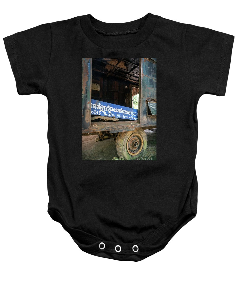 Anlong Baby Onesie featuring the photograph Pol Pot Mobile Khmer Rouge Radio Station Anlong Veng Cambodia by Jacek Malipan