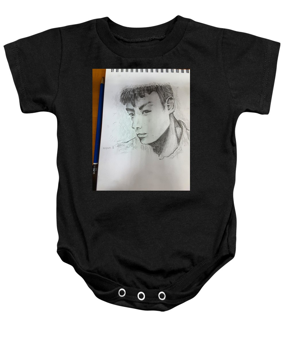 Portrait Baby Onesie featuring the painting Portrait by Tan Lan Ching