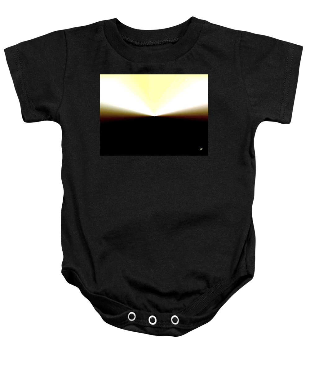 Abstract Baby Onesie featuring the digital art Radiation by Will Borden