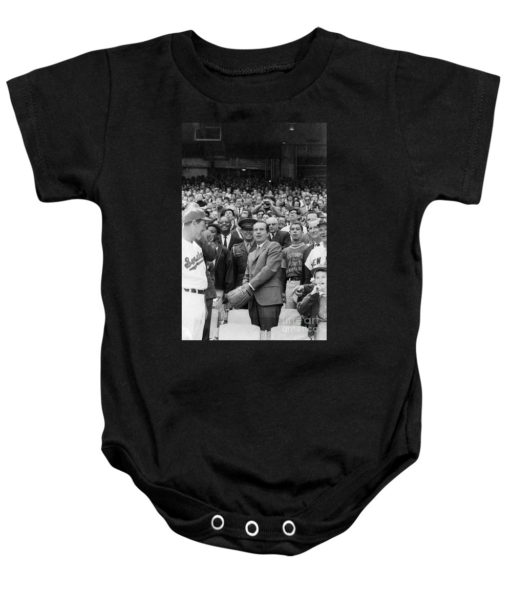 1969 Baby Onesie featuring the photograph Richard Nixon (1913-1994) by Granger