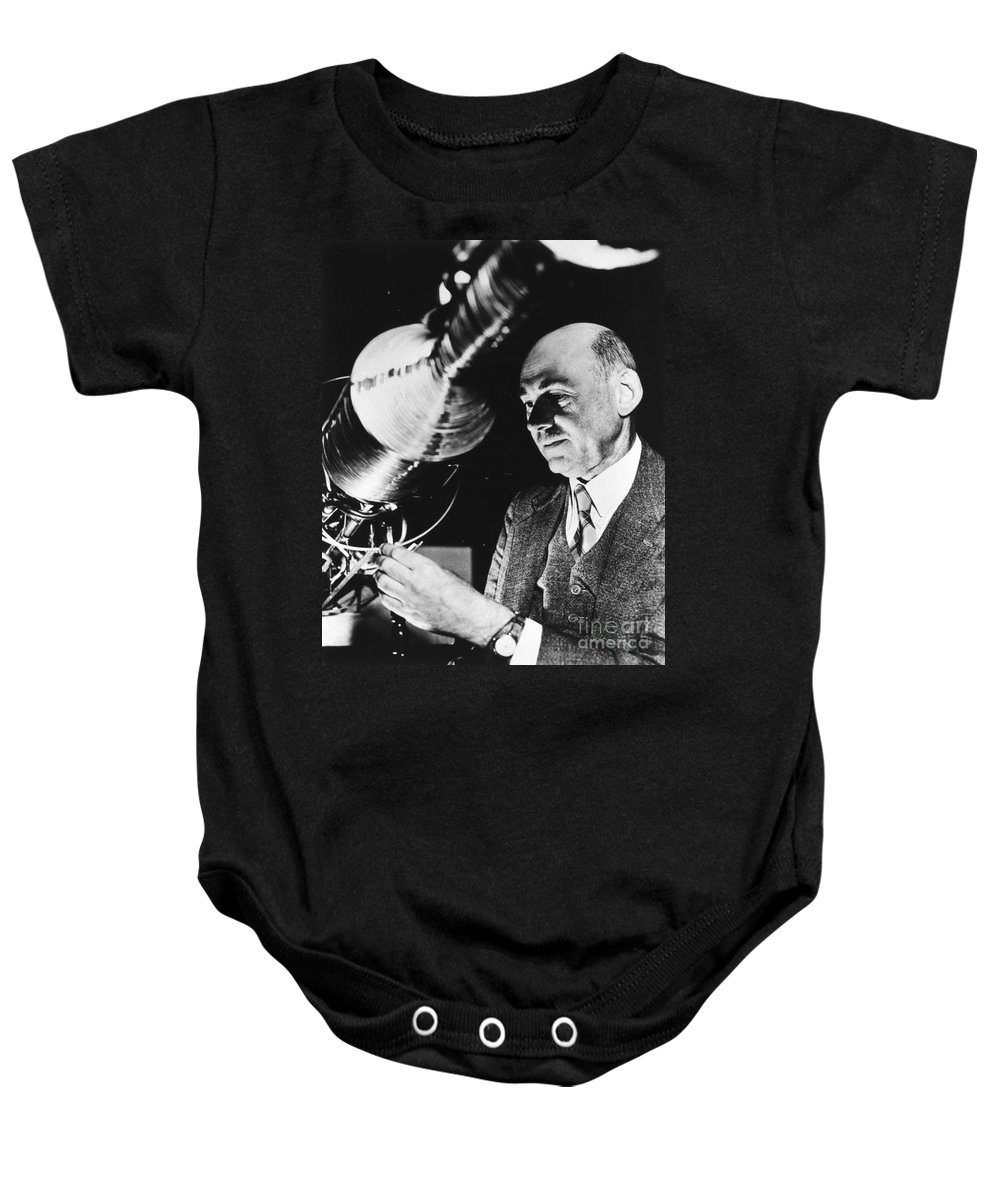 1940 Baby Onesie featuring the photograph Robert Hutchings Goddard by Granger