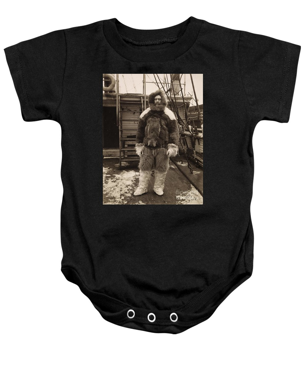 1909 Baby Onesie featuring the painting Robert Peary (1856-1920) by Granger