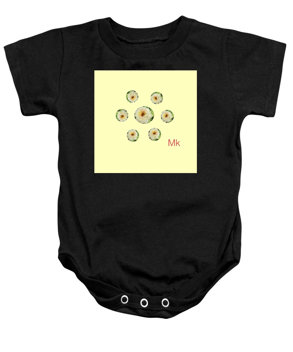 Roses Baby Onesie featuring the digital art Roses by Mary Jo Hopton