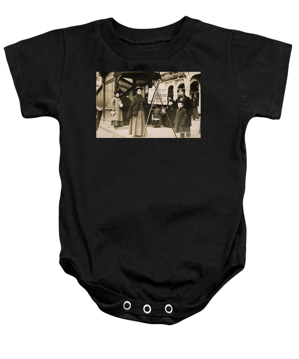 1908 Baby Onesie featuring the photograph Salvation Army, 1908 by Granger