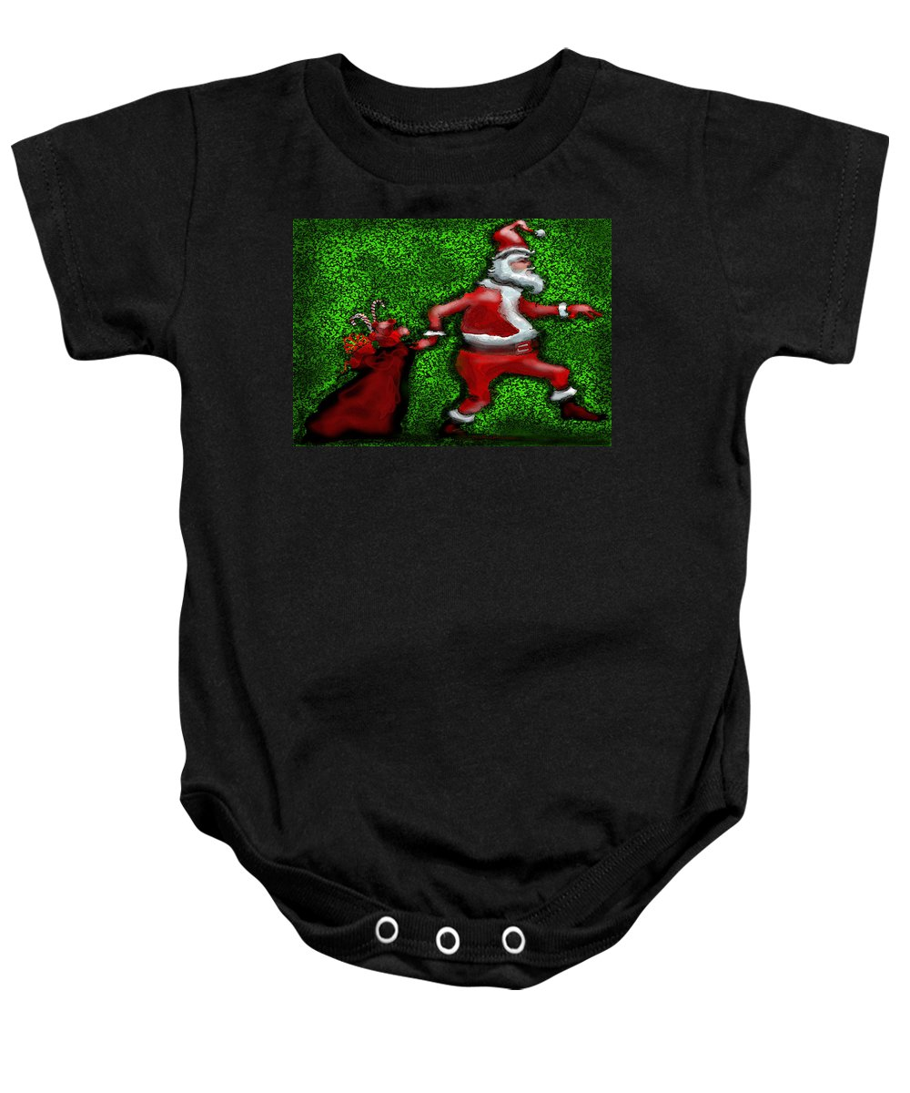 Santa Baby Onesie featuring the greeting card Santa Claus by Kevin Middleton