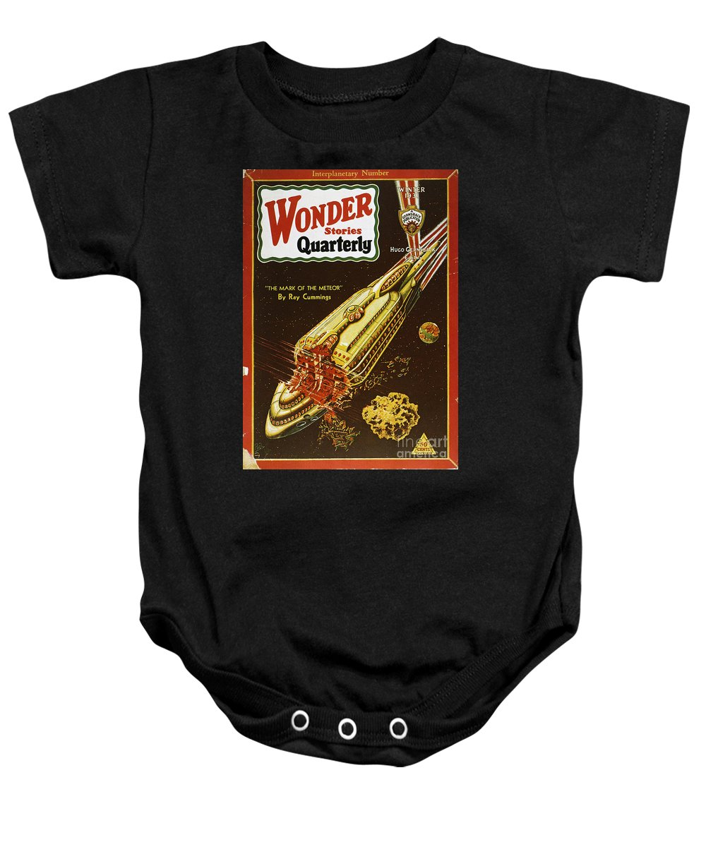 1931 Baby Onesie featuring the photograph Sci-fi Magazine Cover, 1931 by Granger